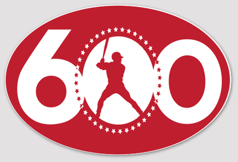 "Albert Pujols — 600 HOMERUN CLUB Sticker 3""x4"""