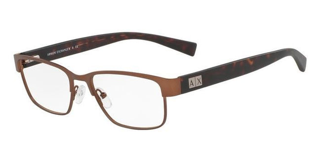 Armani Exchange AX1020 6091 Eyeglasses Matte Brown