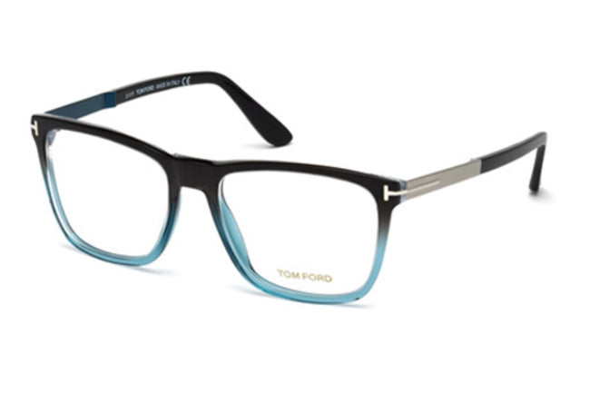Tom Ford FT5351 05A Eyeglasses Black/Other/Smoke