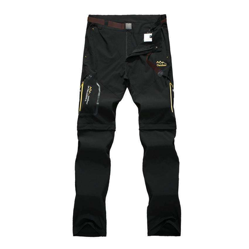 Men's Detachable Pants Black