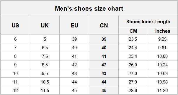 Sizing Chart For Military Boots