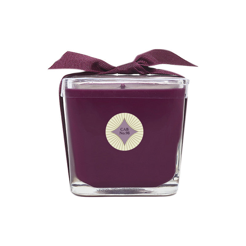 Cabernet Legacy No. 98 Square Glass Candle