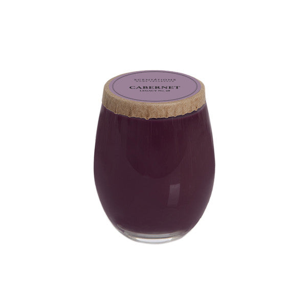 Cabernet Legacy No. 98 12 oz. Stemless Wine Glass Candle