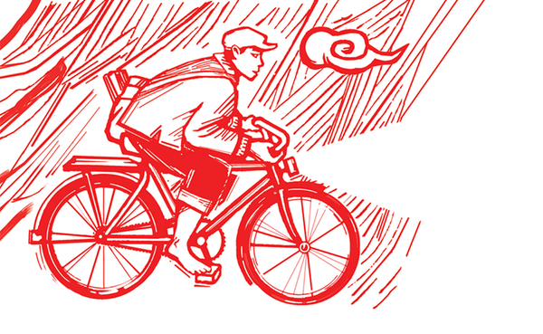 Bike Storm Pocket Sketchbook | Endpaper design | Red Type Ink