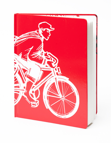 Bike Storm Pocket Sketchbook | Front Cover | Red Type Ink