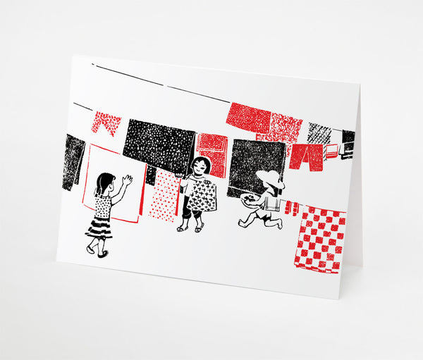 Laundry Kids Notecard | Red Type Ink