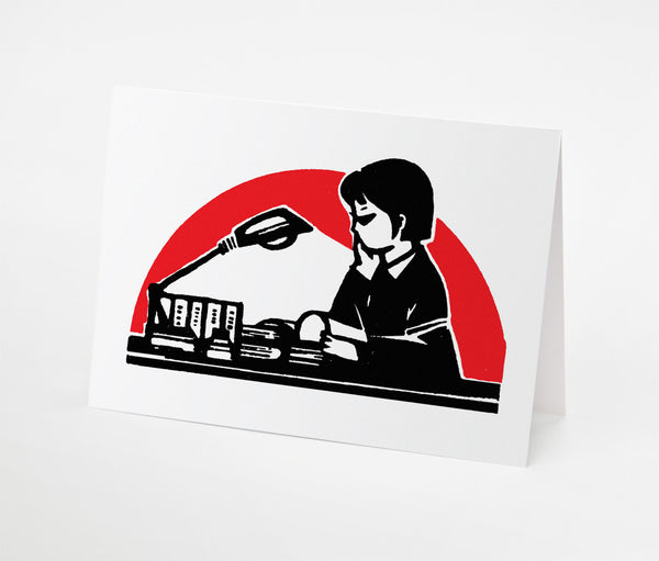 Reading Lamp Notecard | Red Type Ink
