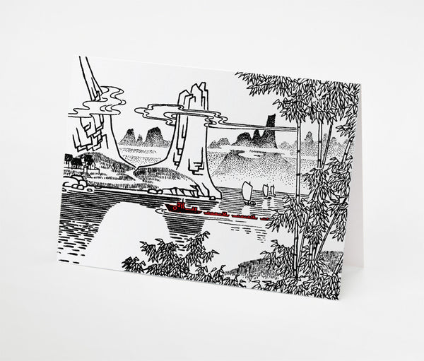 Lake Convoy Notecard | Red Type Ink