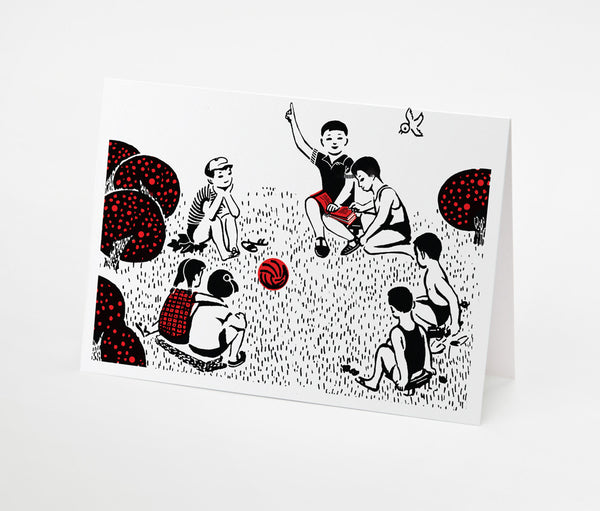 Play Group Notecard | Red Type Ink