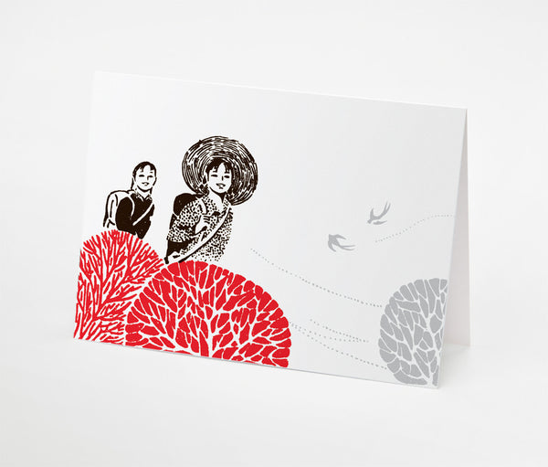 Two Girls Notecard | Red Type Ink