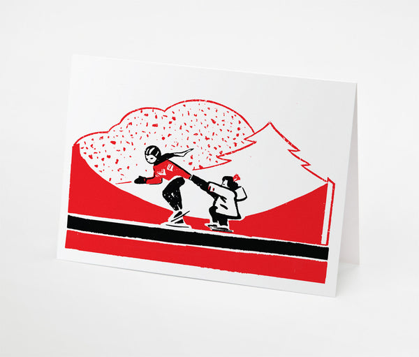 Skate Ride Notecard | Red Type Ink