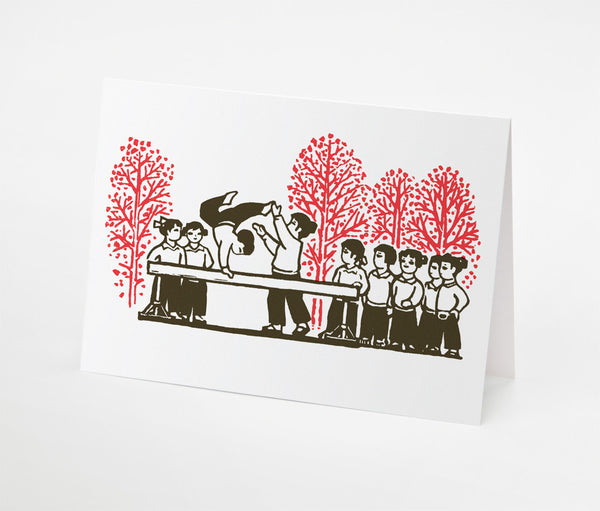 Gym Class Notecard | Red Type Ink