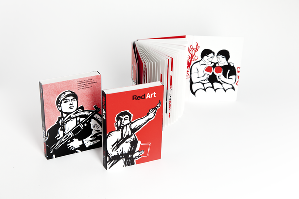 Red Art Postcard Book | Red Type Ink