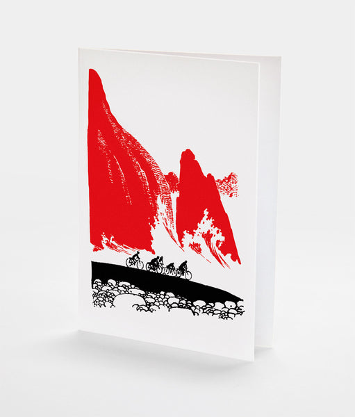 Mountain Race Notecard | Red Type Ink