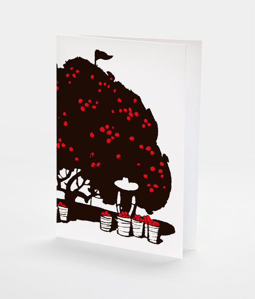 Fruit Picking Notecard | Red Type Ink