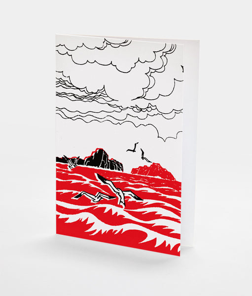 Seagulls Notecard | Red Type Ink
