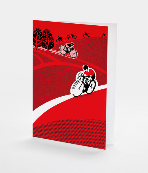Country Ride Notecard | Red Type Ink