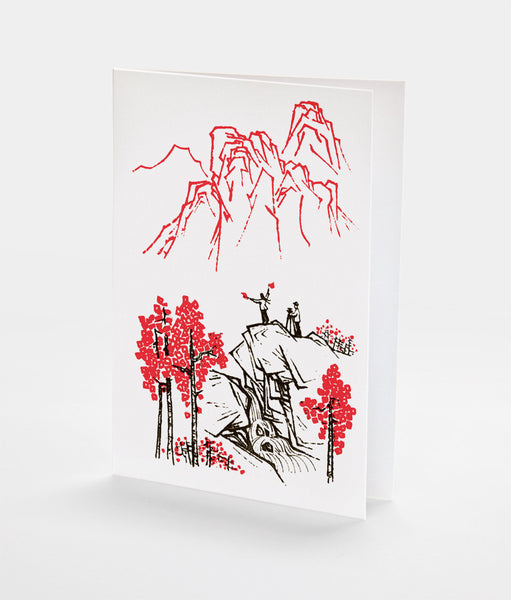 Cliff Greetings Notecard | Red Type Ink