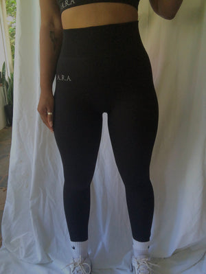 Seamless Ribbed leggings - Onyx - Preorder