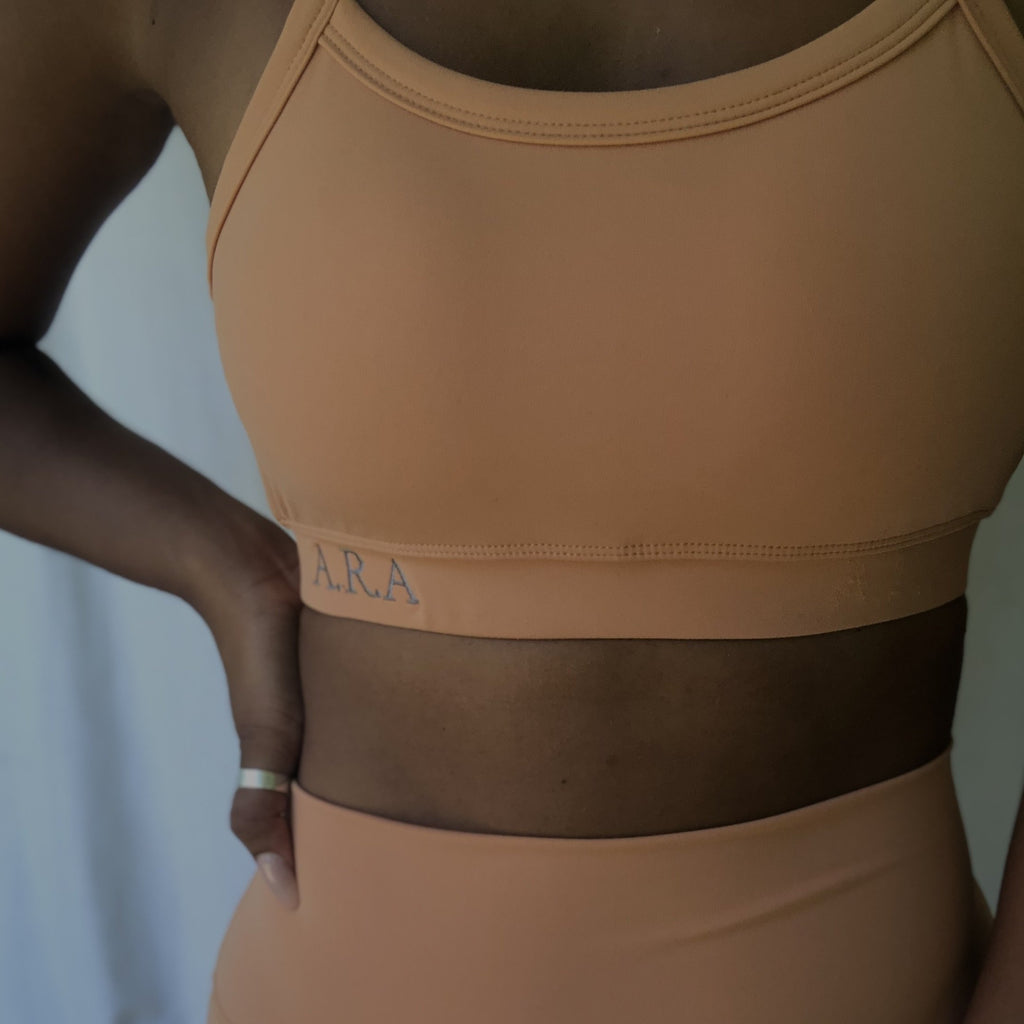 Slinky Sports crop - Honey Latte - Preorder