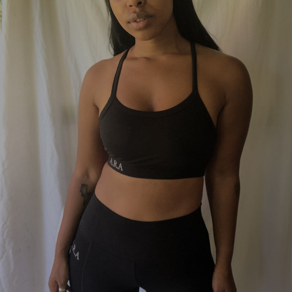 Slinky Sports crop - Onyx - Preorder