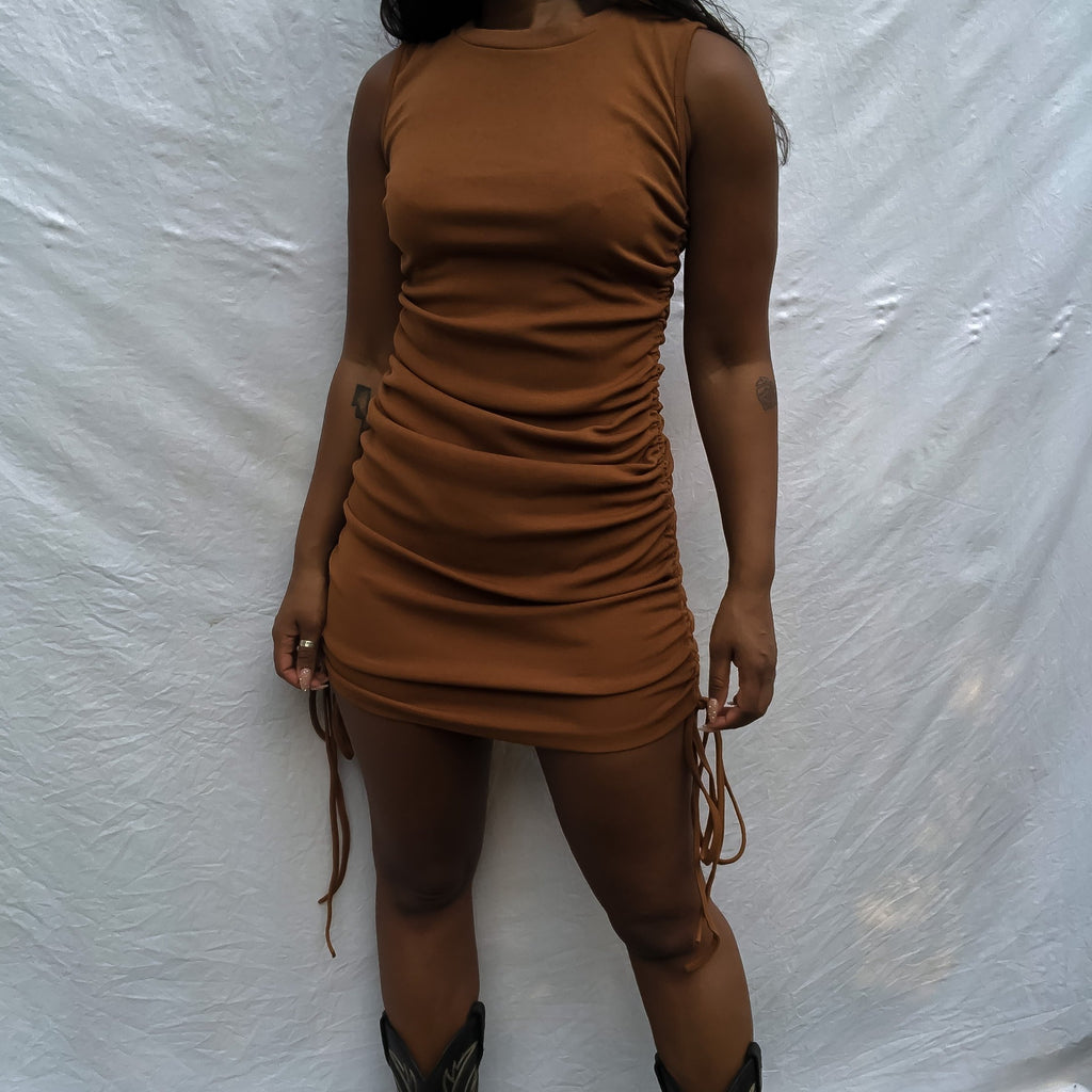 The Maya Dress Brown