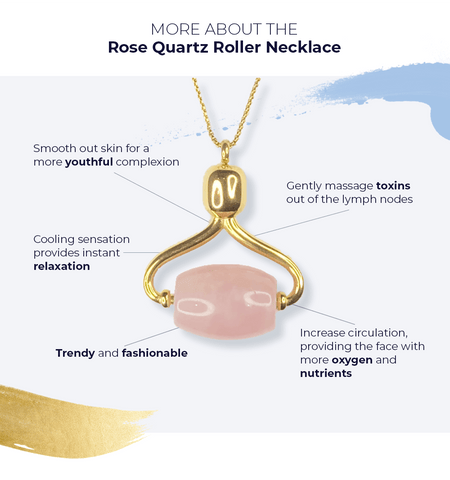 25% Off Alana Mitchell Rose Quartz Roller Necklace