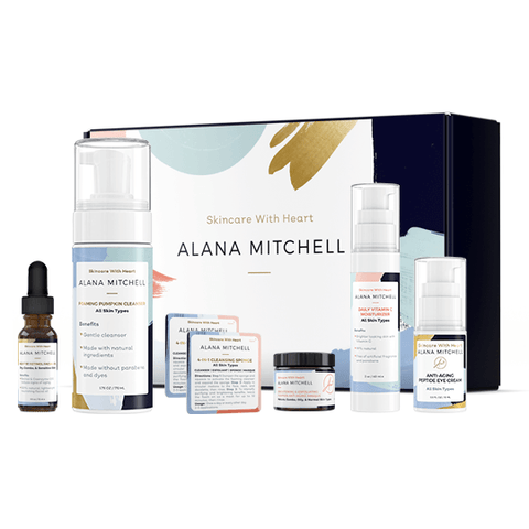 Nightly PM facial skincare routine kit all natural