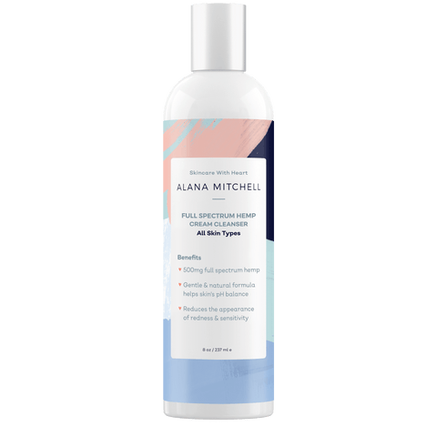 Alana Mitchell Full Spectrum Hemp Cream Cleanser 8oz