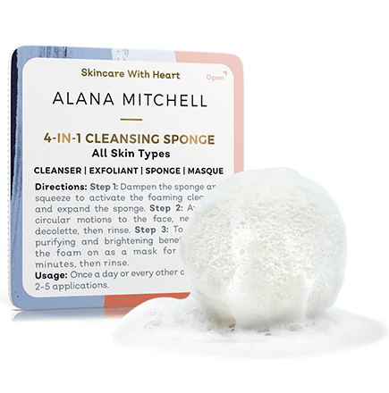 Alana Mitchell 4-In-1 Cleansing Sponge - Alana Mitchell Skincare