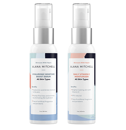 Vitamin C & Hyaluronic Moisture Boost Serum Set - Alana Mitchell Skincare