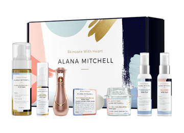 50% OFF Discount Active: All Skin Types Set + Device - Alana Mitchell Skincare