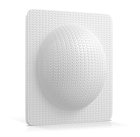 back of facial cleansing sponge that exfoliates, brightens, tightens