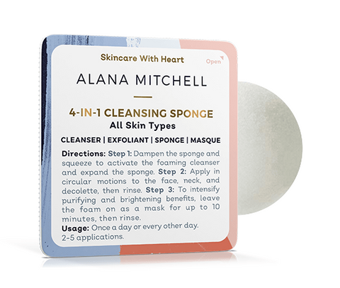 Discount Active: 15% OFF 4-in-1 Cleansing Sponge - 2 Pack - Alana Mitchell Skincare