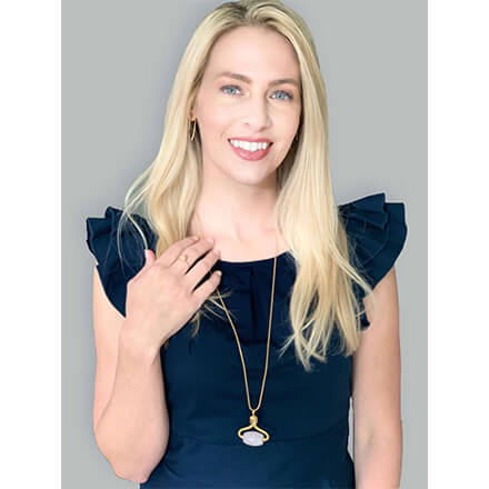 alana mitchell rose stone necklace helps with wrinkles