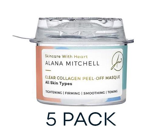 Discount Active: 40% OFF Clear Collagen Peel-Off Masque - 5 Pack - Alana Mitchell Skincare