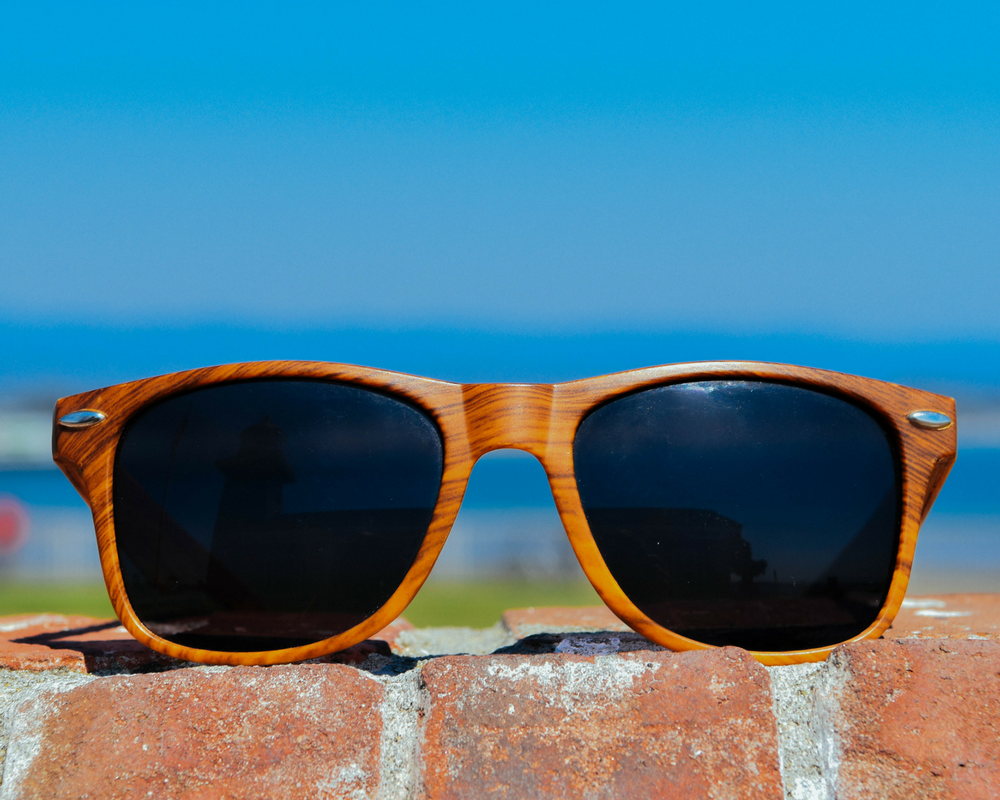 Choose Santa Cruz Wood Grain Sunglasses