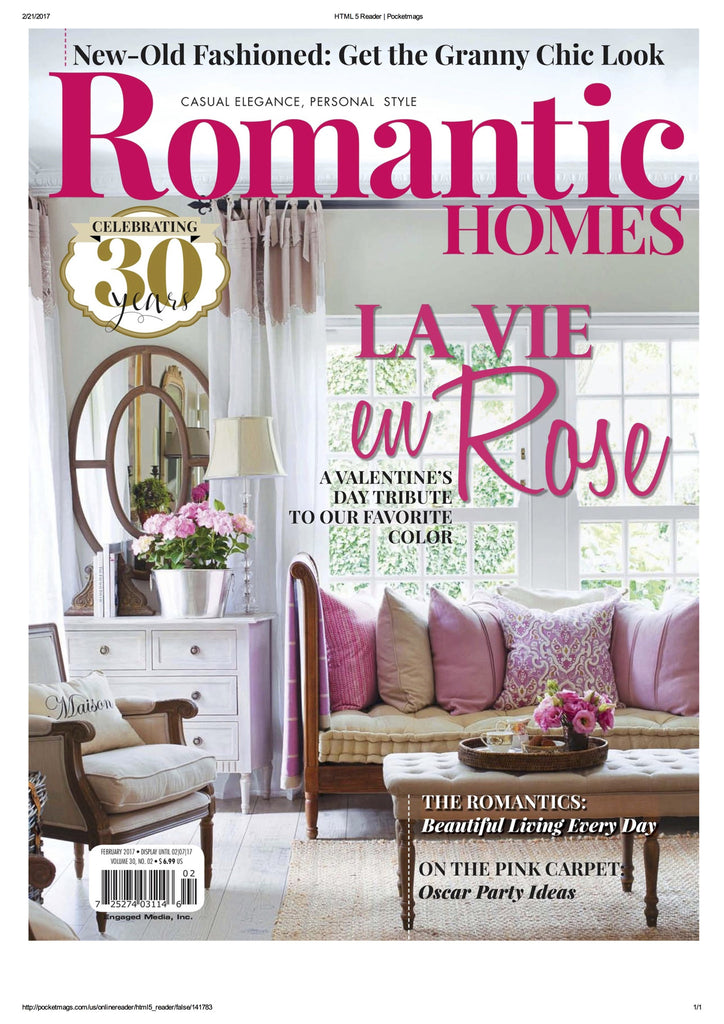 We've Been Featured in Romantic Homes!