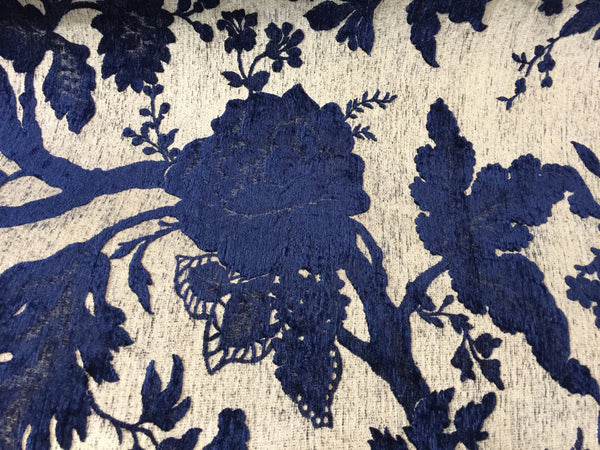 Beautiful deep blue fabric by Albatros at Heimtextil
