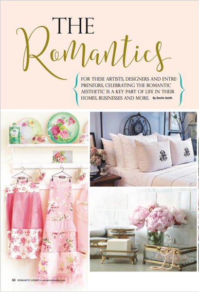 Romantic Homes features Pandora de Balthazar