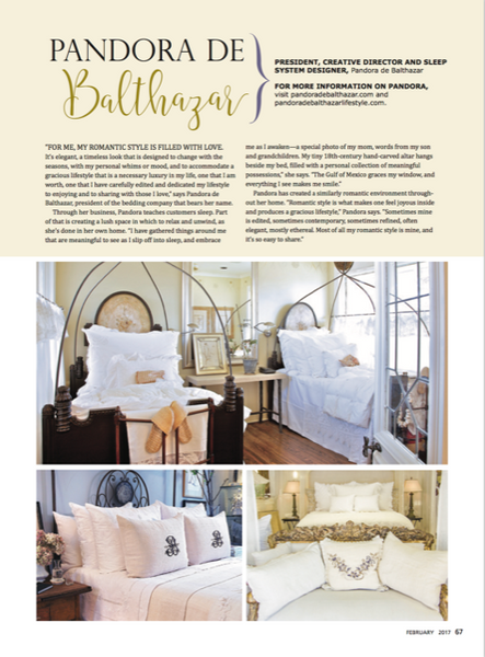 Pandora de Balthazar in Romantic Homes