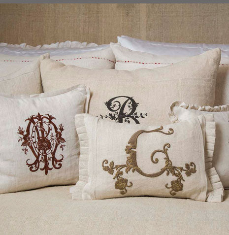Pandora de Balthazar Custom Embroidered Pillows