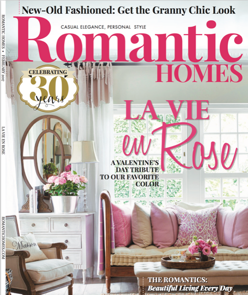 Pandora de Balthazar featured in Romantic Homes Magazine