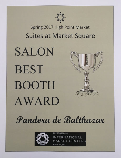 Salon Best Booth Award for Pandora de Balthazar