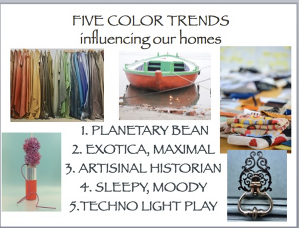 Five color trends influencing our homes by Tamara Matthews-Stephenson