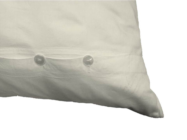 Ivory button Pillow Sham