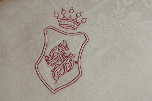 Crown and Shield MB Tablecloth Detail
