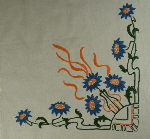 Fall Harvest Satin Stitch Tablecloth Border