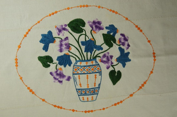 Fall Harvest Satin Stitch Tablecloth Bouquet