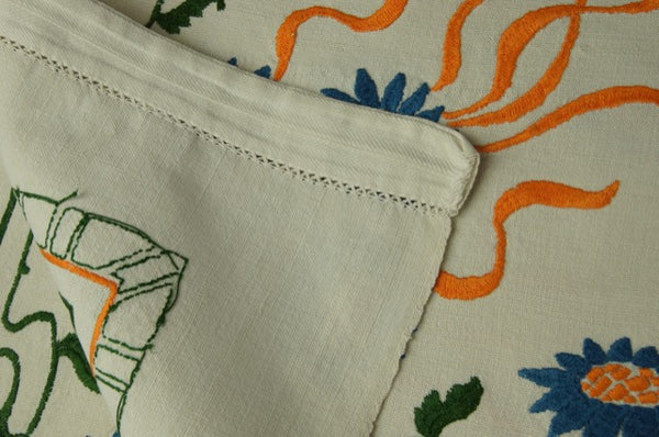 Fall Harvest Satin Stitch Tablecloth Pandora de Balthazar